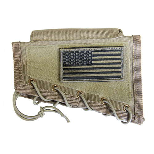 Tactical Stock Riser Cheek Rest + USA FLAG Patch + Mag Pouch