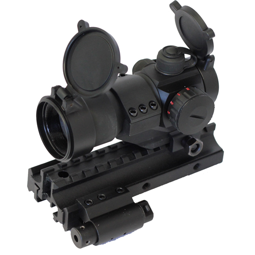 AR Combo #10 - NcStar RGB Dot Sight + Red Laser + TriRail Mount