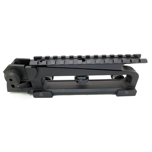 AR15 Carry Handle With Adjustable Rear Sight + Scope Rail Mount