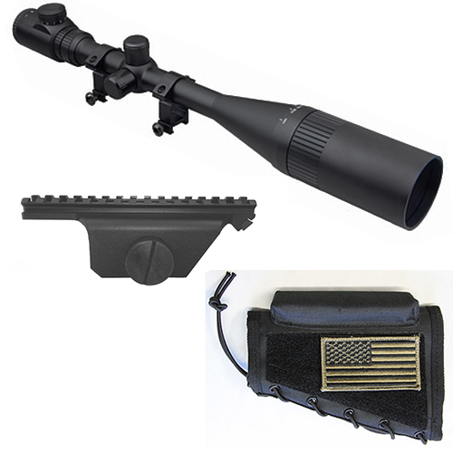 M1A Combo #3 - Trinity 8-32x50 Rifle Scope + Mount + Cheekrest
