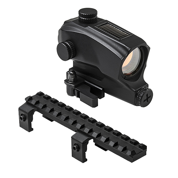 Hk Combo #1 - Picatinny Rail Mount + SOLAR Power Red Dot Sight