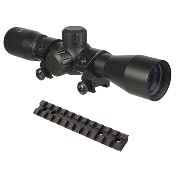 10/22 Combo #2 - Compact 4x30 Scope + Rings + Picatinny Mount