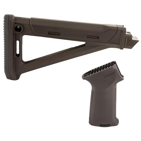 Made in USA - MAGPUL MOE Plum AK47 AK74 Rifle Stock + Grip