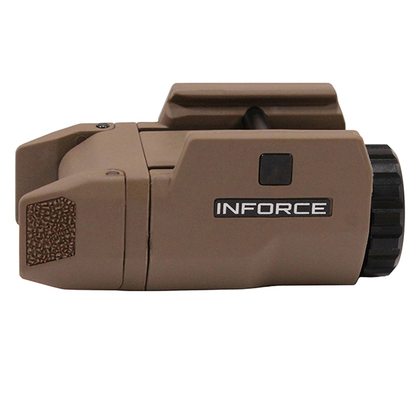 INFORCE APLc 200 Lumen FDE Compact Picatinny Mount Flashlight