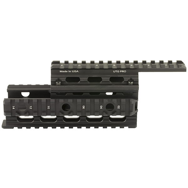 UTG PRO Made in USA AK-47 Tactical Quad Rail Handguard