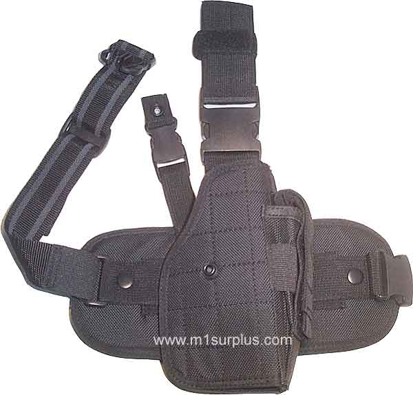 UTG Tactical Full Size Drop Leg Right Hand Holster w/ Mag Pouch