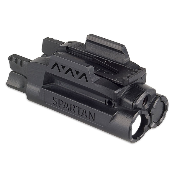 LaserMax SPARTAN Rail Mounted Tactical Flashlight + Red Laser