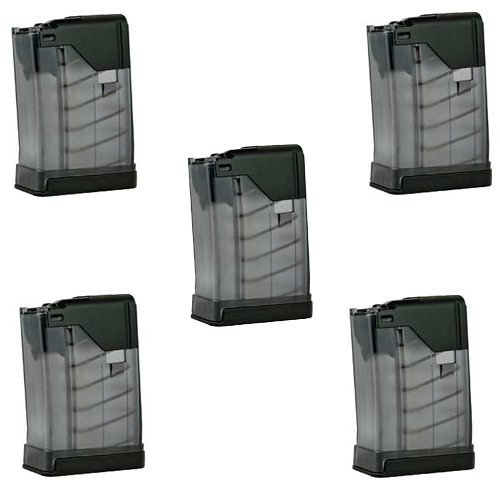 5 Pack - Lancer L5 Advanced Warfighter 10rd AR15 .223 Magazines