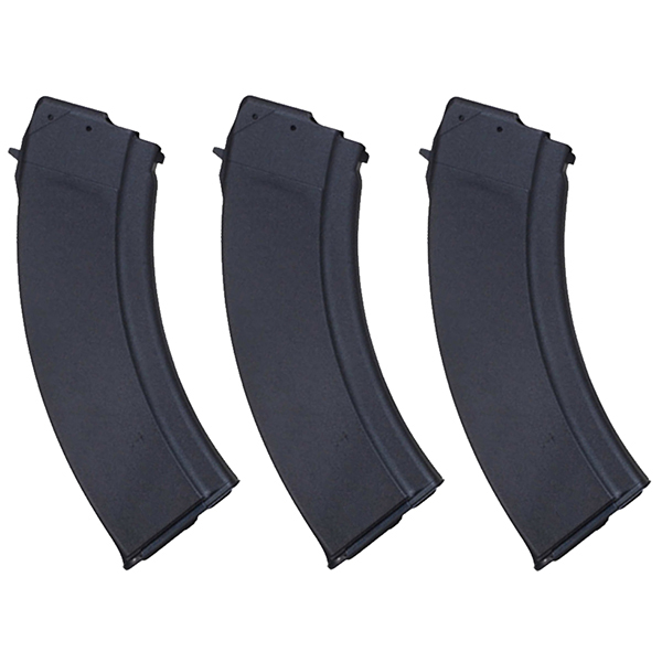 3 Pack - Bulgarian AK47 Synthetic 30rd Steel Lips Magazines