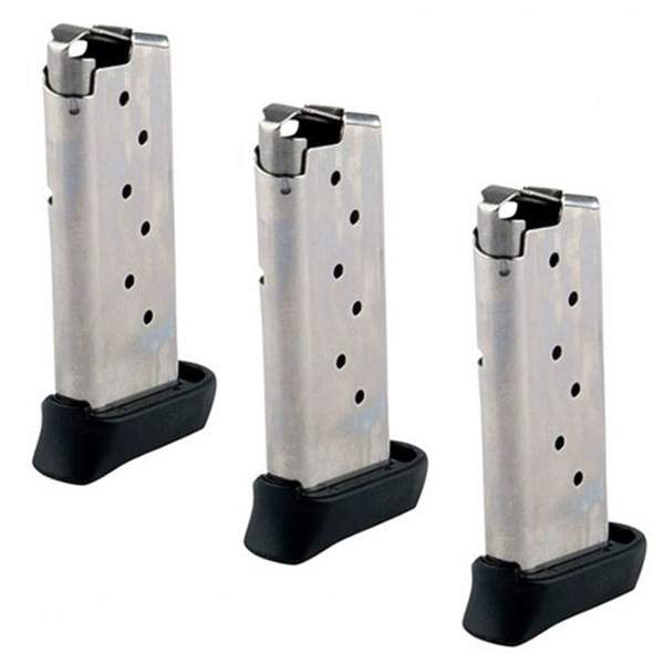 3 Pack - SIG P938 Factory 7rd Stainless Steel 9mm Magazines