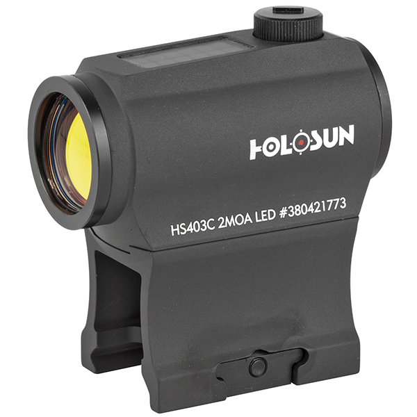 HOLOSUN 2MOA SOLAR Power Shake AWAKE Red Dot Sight w/ Mounts