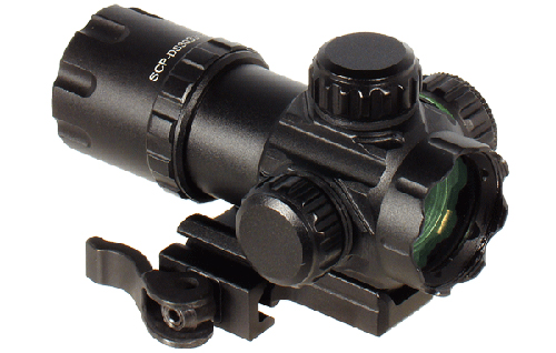 UTG Compact Red Green Dot Co-Witness Scope