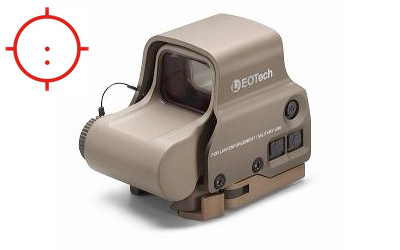 EOTech EXPS3-2 Red Dot Sight w/ QD Mount - Tan