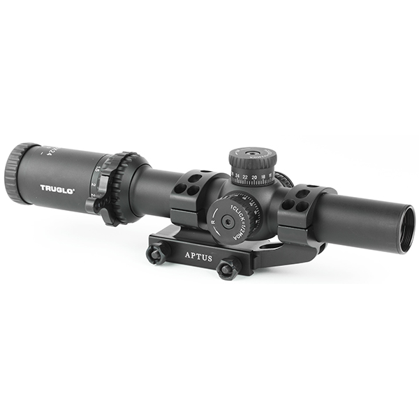 TRUGLO OMNIA 1-6X24 IR Tactical Rifle Scope With APTR Mount