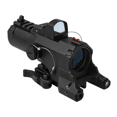 VISM ECO 4X34 Scope w/ Micro Dot Sight + Green Laser + Nav Light
