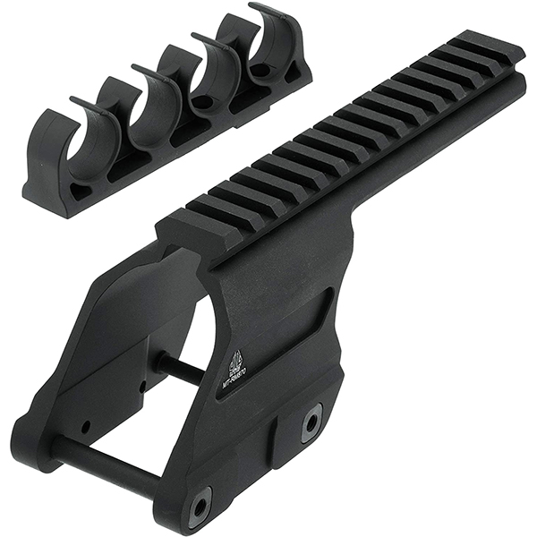UTG Scope Mount Rail w/ Shell Carrier For Remington 870 Shotgun