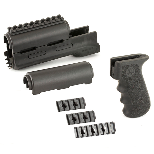 Hogue AK47 AK74 Black Overmolded Pistol Grip + Handguard Set