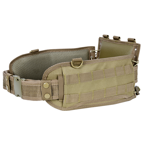 NcStar Tactical Adjustable Tan MOLLE Battle Belt / CVBAB2939T